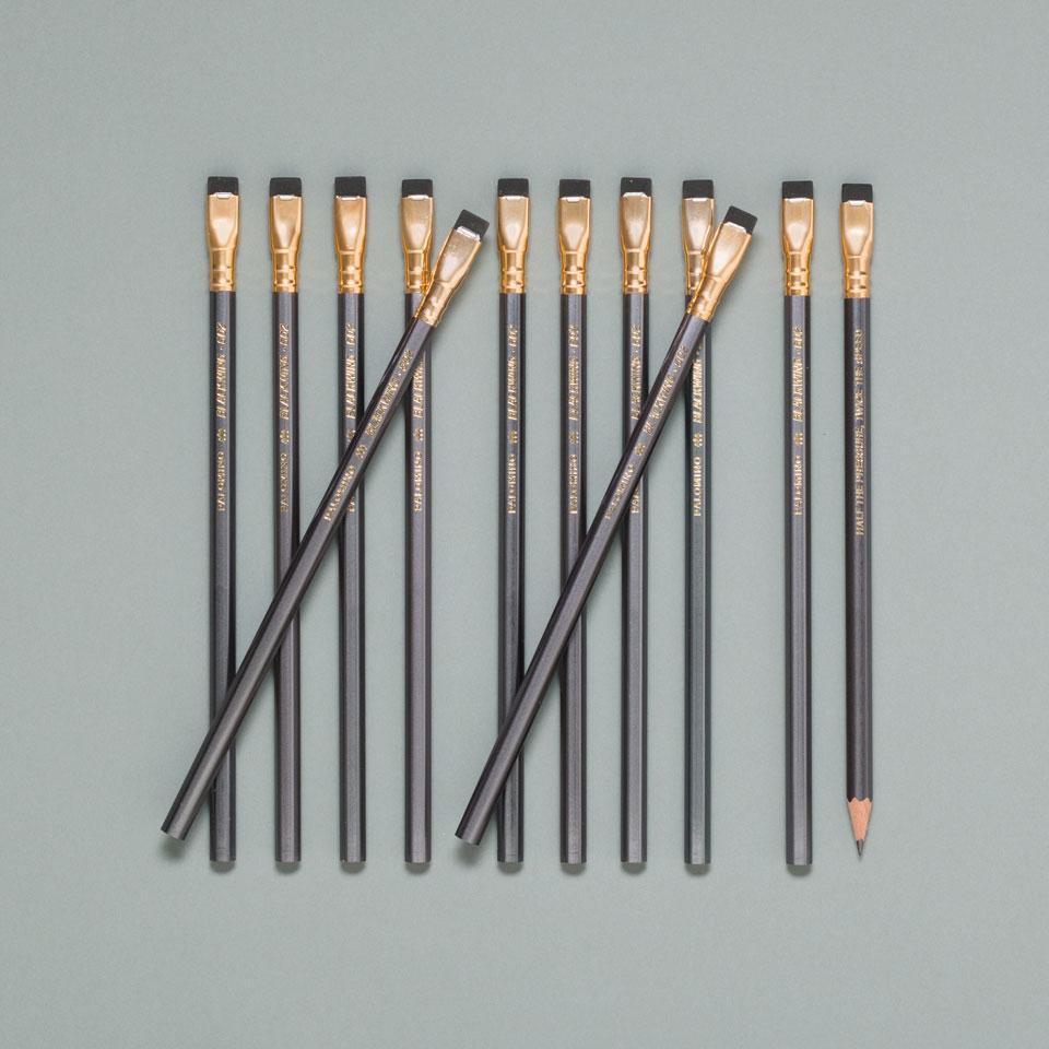 grauer Blackwing Bleistift von Palomino im 12er Set