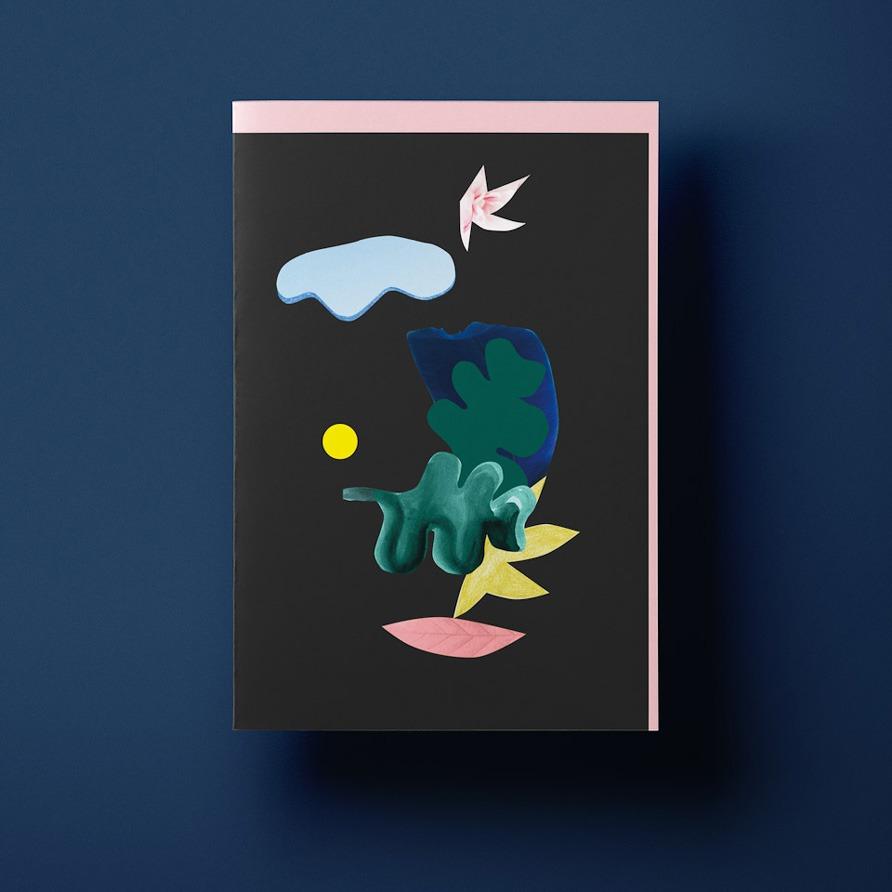 Grusskarte »Collage« mit rosa Umschlag von Cäcilia Holtgreve