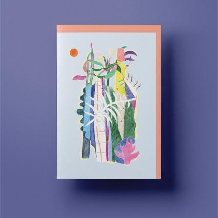 Grusskarte »Dschungel« mit rosanem Umschlag von Cäcilia Holtgreve