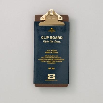 Klemmbrett gold Checkliste
