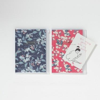A5 Kalender mit Umschlagtasche Blumen