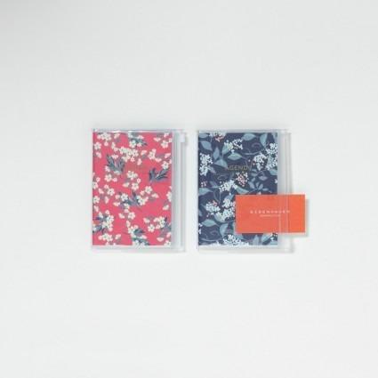 A6 Kalender mit Umschlagtasche Blumen