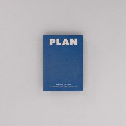 undatierter Kalender Plan blau