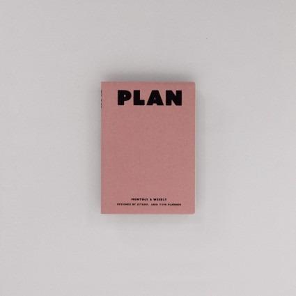 undatierter Kalender Plan altrosa