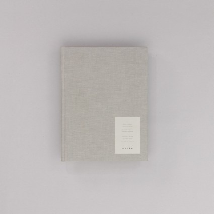 Arbeitsbuch groß grau Notem