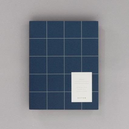 Notizbuch groß dunkelblau Notem