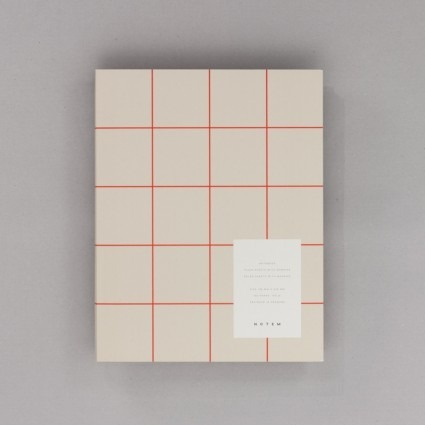 Notizbuch groß grau Notem