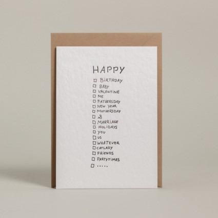 Grußkarte Happy …
