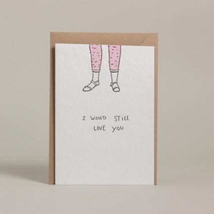 Grußkarte Sandalen mit Socken