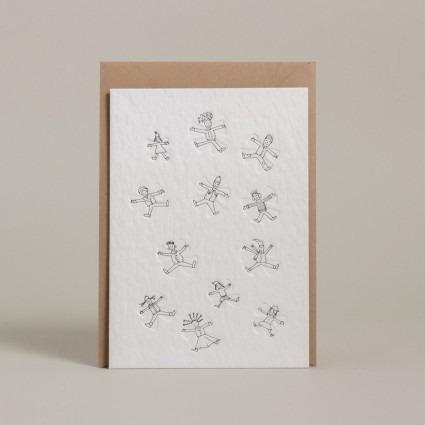 Grußkarte Schneeengel