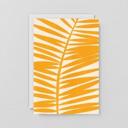Grußkarte Palmenwedel