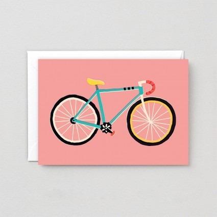 Grußkarte Fahrrad