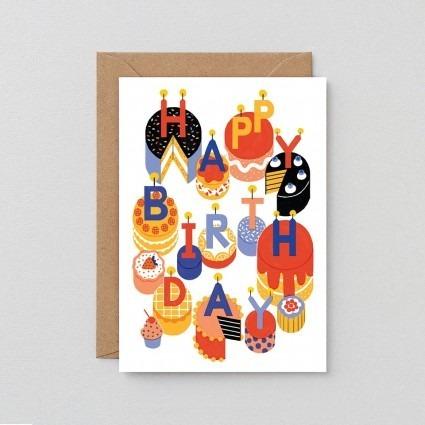 Grußkarte Geburtstagskuchen