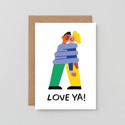 Grußkarte Love Ya!