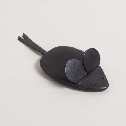 Geldbörse Maus schwarz aus Leder