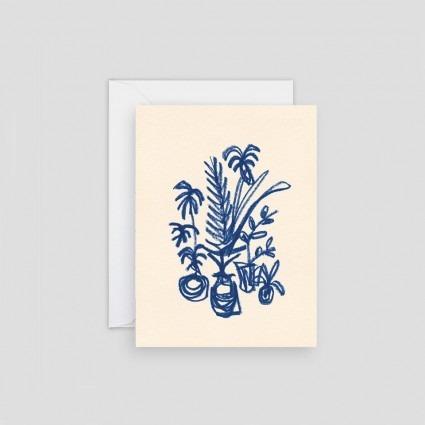 Minikarte blaue Pflanzen