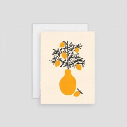 Minikarte Zitronenbaum