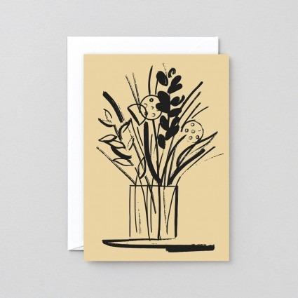 Grußkarte Blumenvase