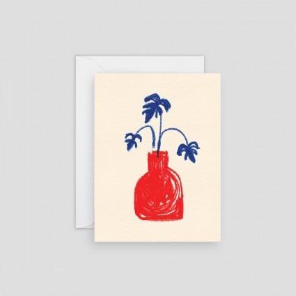 Minikarte Rote Vase