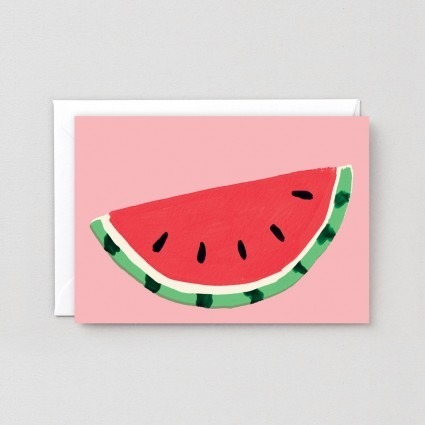 Grußkarte Melone