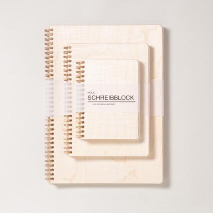 Holz Notizbuch Ahorn