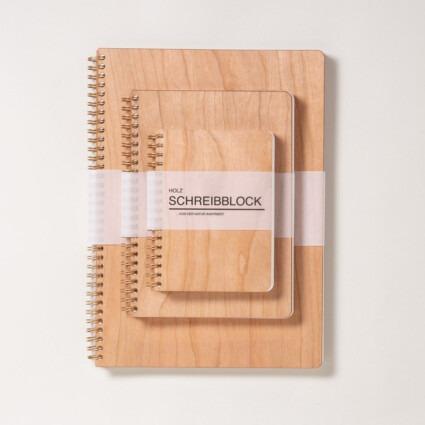 Holz Notizbuch Kirsche
