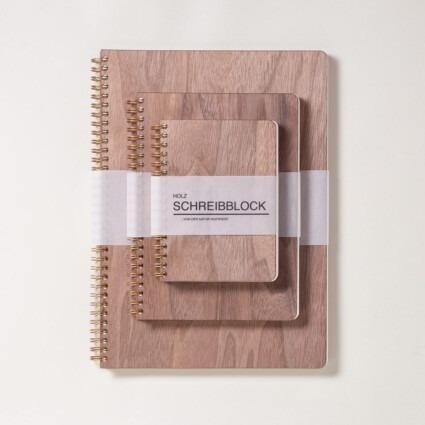 Holz Notizbuch Nussbaum