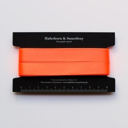 Satin Geschenkband Neon Orange