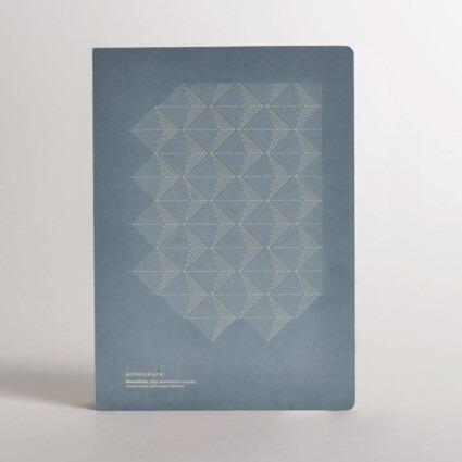 Notizbuch grau Monograph
