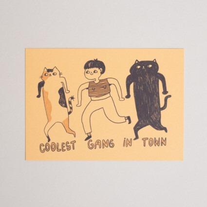 Postkarte Coolest Gang