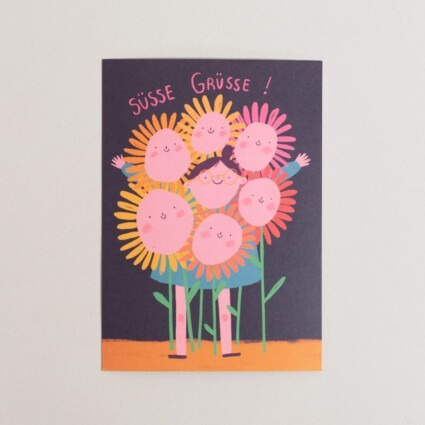 Postkarte süsse Grüsse