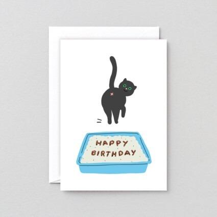 Geburtstagskarte Cat Poop