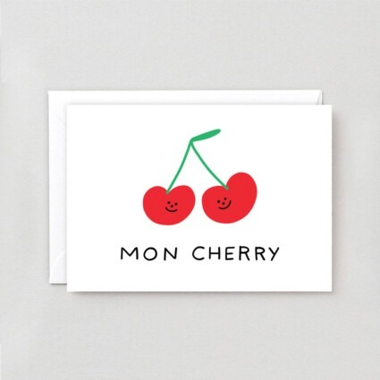 Grußkarte Mon Cherry