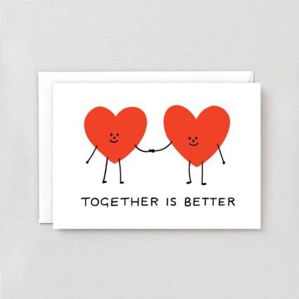 Grußkarte Together is Bettler
