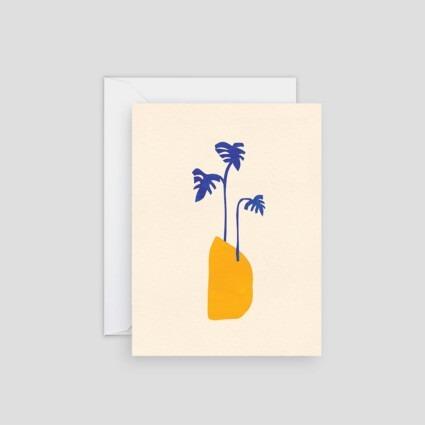 Minikarte Gelbe Vase