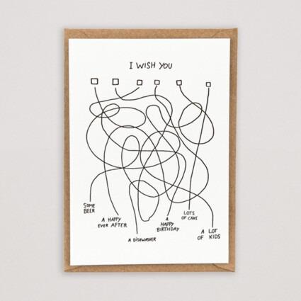 Grußkarte I wish you Labyrinth