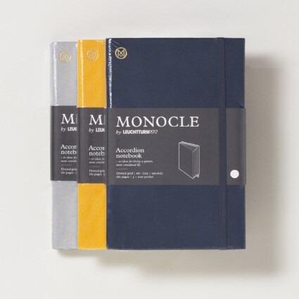 Akkordeon Notizbuch Monocle