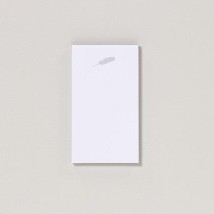 Mini Notizblock Feder