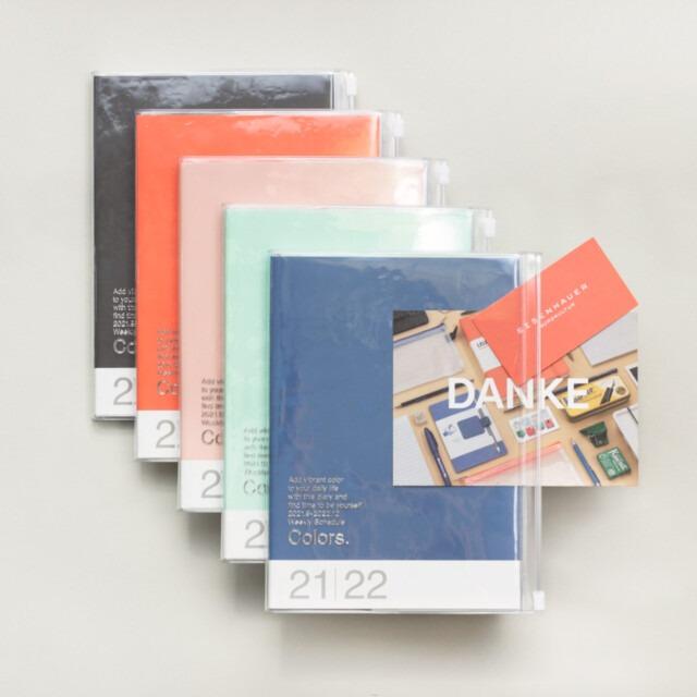 A5 Kalender 2021/22 mit Umschlagtasche Farbe