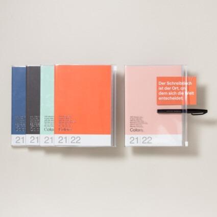 A6 Kalender 2021/22 mit Umschlagtasche Farbe