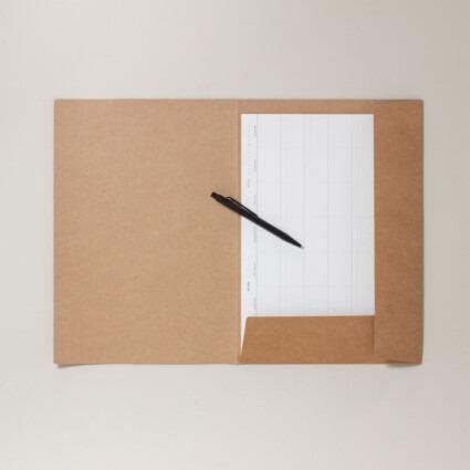 Dokumentenmappe mit einer Klappe